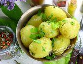 Молодая вареная картошка