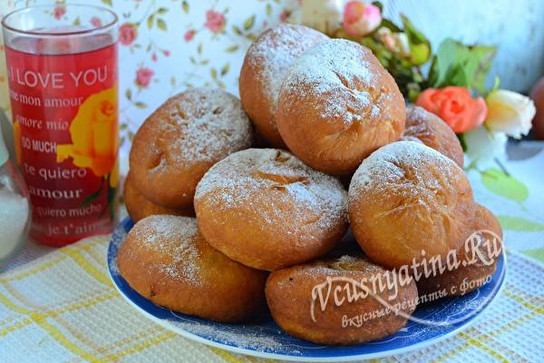 пончики с творожной начинкой