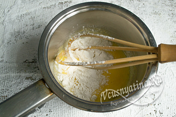 яйца с мукой