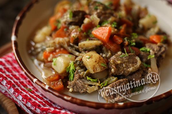 Аджапсандали с говядиной и сочными овощами по-грузински