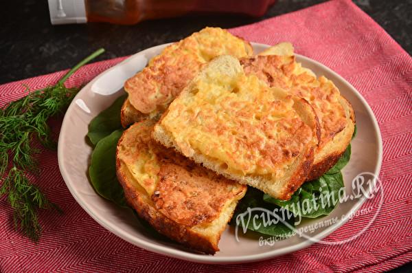 Бутерброды с луком и яйцом и сыром на сковороде - бюджетно и вкусно
