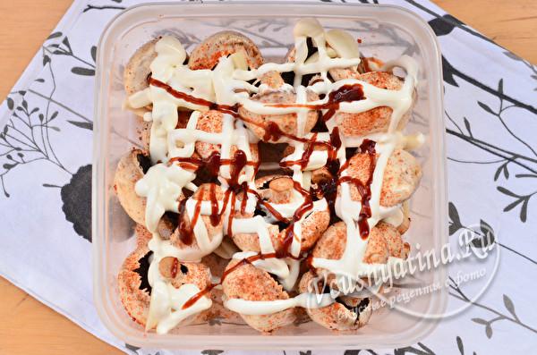 Шашлык из шампиньонов на мангале + 6 вкусных рецептов маринада для грибов