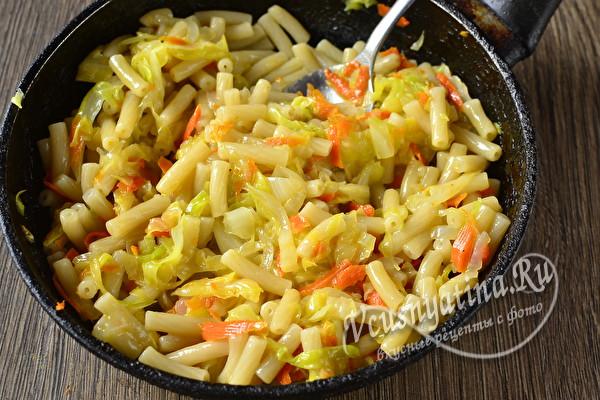 Ленивые вареники из макарон с капустой - необычно и вкусно