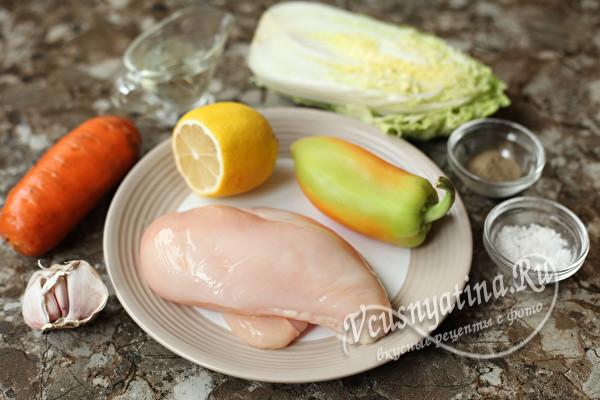 """Салат для худеющих с куриной грудкой """"Ешь сколько хочешь"""""""