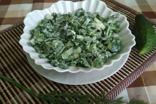 салат с крапивой и щавелем