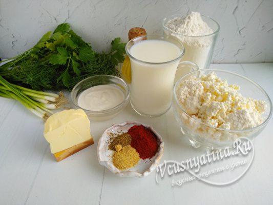 ингредиенты на чебуреки
