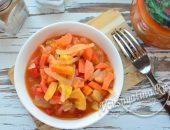 Лечо из зеленых помидор и перца, моркови и лука на зиму