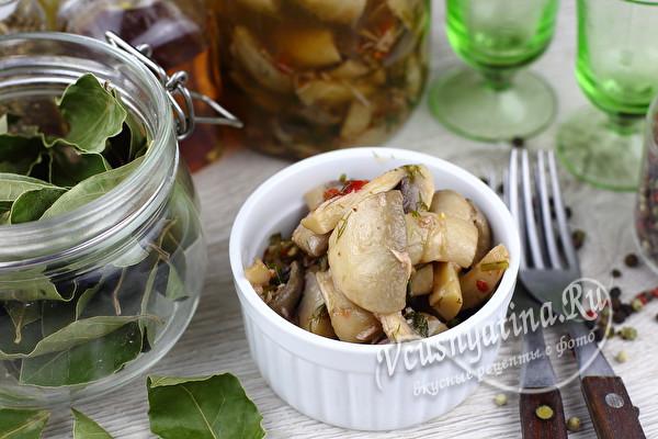 Маринованные шампиньоны в очень вкусном маринаде - обалденная закуска