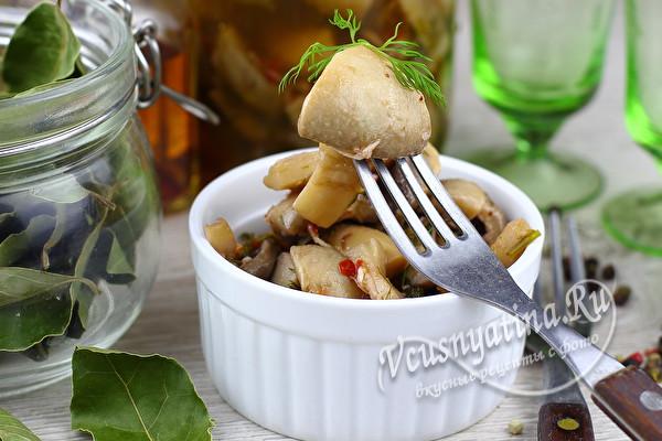 Маринованные шампиньоны в очень вкусном маринаде