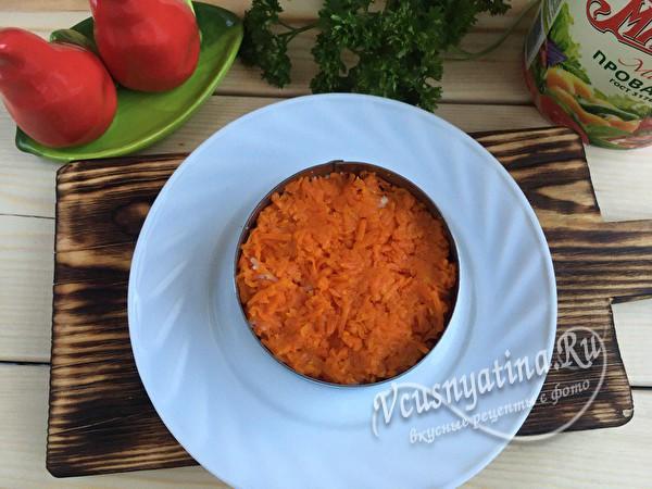 Салат Мимоза с картошкой, морковью, яйцом и сыром