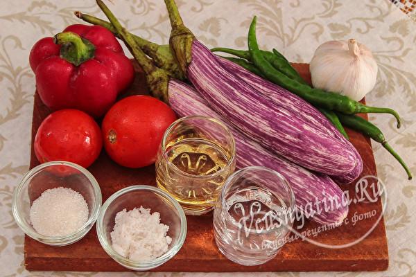 Салат из баклажанов на зиму «Тещин язык» без стерилизации