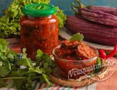 Салат из баклажанов на зиму «Тещин язык»