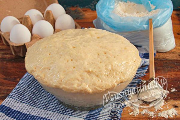 Сдобное тесто для пирожков без опары и замеса