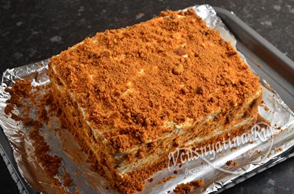 Медовый торт без раскатки коржей - простой и доступный рецепт
