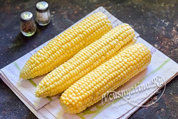 очищенная кукуруза