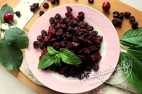 Вяленая вишня с сахаром на зиму