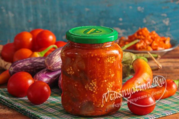 Салат из баклажанов «Вкуснотища» на зиму
