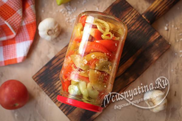 Салат Кобра из зеленых помидор на зиму