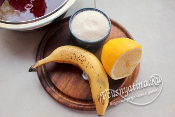 Варенье из красной смородины с бананом