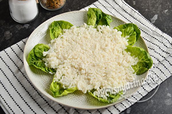 """Вкусный и красивый салат """"Ромашковое поле"""""""