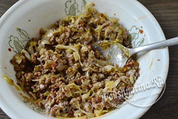 Блинчики фаршированные мясом и капустой