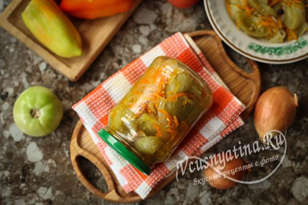 """Салат """"Дунайский"""" на зиму с зелеными помидорами"""