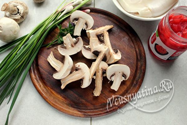 Маринованные кальмары с грибами – вкуснотища необыкновенная