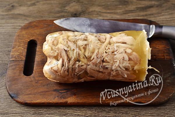 Сальтисон из курицы вместо колбасы