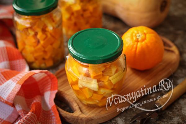 Манго из тыквы и апельсина - вкус бесподобный