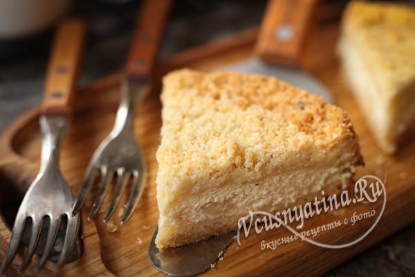 Очень вкусный насыпной творожный пирог