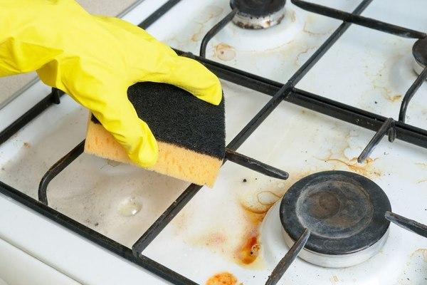 Как и чем очистить чугунные решетки на газовой плите