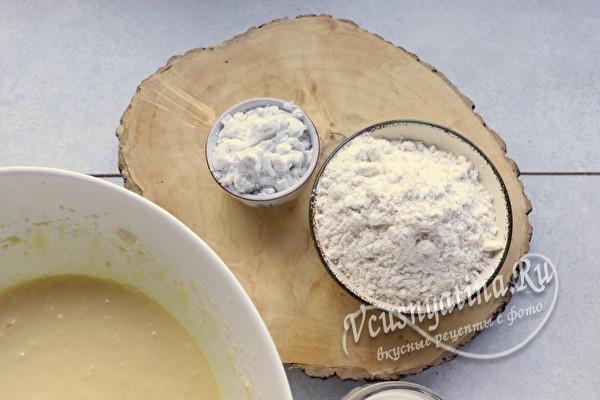 Простой и вкусный пирог со сливой на кефире