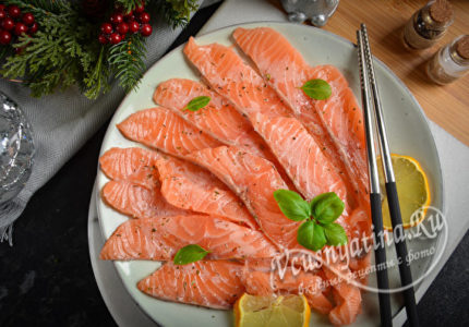 Карпаччо из лосося в домашних условиях