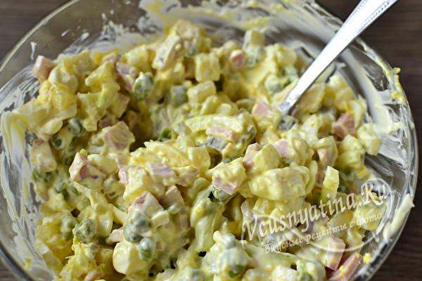 Новогодний салат Бычок – красивый и очень вкусный