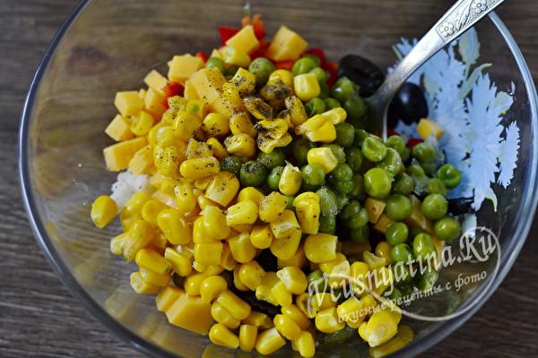 Новогодний салат Конфетти – простой и вкусный