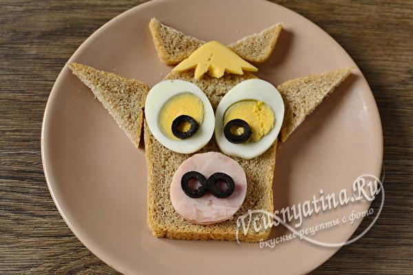 """Детский бутерброд """"Бычок"""""""