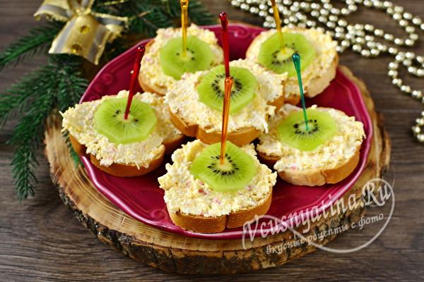 Бутерброды с киви на праздничный стол - 5 простых и вкусных рецептов