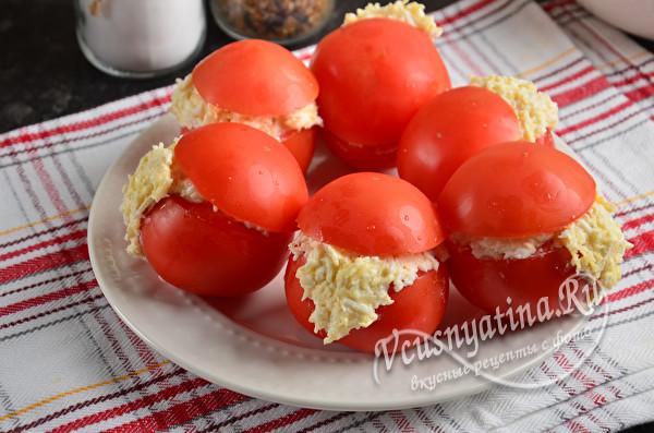 """Фаршированные помидоры """"Дед Мороз"""""""