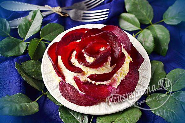 """Красивый и очень вкусный салат """"Роза"""""""