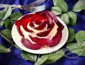 Салат Роза из свеклы