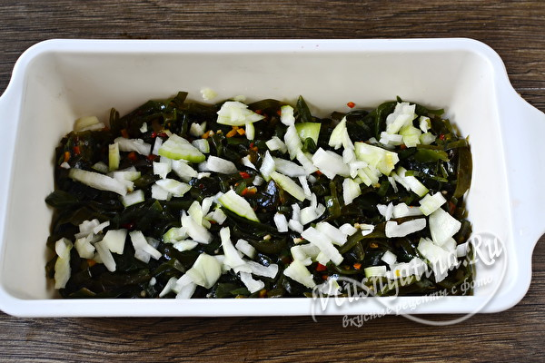 Морская капуста под шубой – постный рецепт вкусного салата