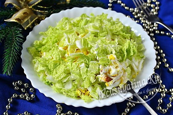 Салат «Снегурочка» с копченой курицей – сытный и вкусный