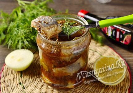 Маринованная селедка в соевом соусе