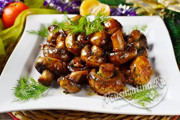 Жареные шампиньоны в соевом соусе – сочная и вкусная закуска