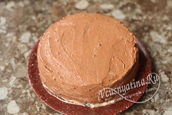 Бисквитный торт Бычок с кремом на Новый год – красивый и вкусный