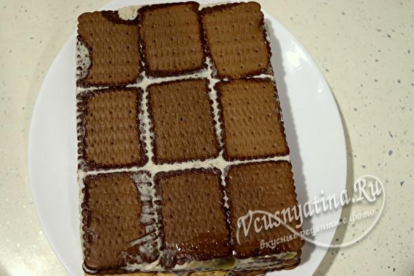 Вкусный и красивый торт на Новый год без выпечки