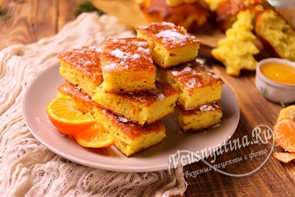 Невероятно вкусный мандариновый пирог из свежих мандаринов