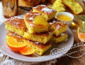 Пирог со свежими мандаринами
