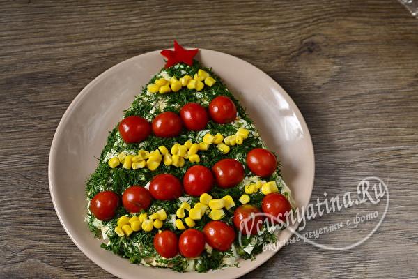 Салат «Елка» на Новый год – нарядный и вкусный