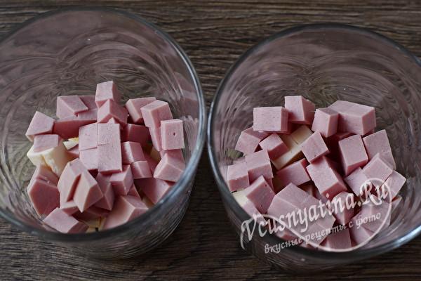 """Праздничный салат """"Рождественская свеча – простой и вкусный"""